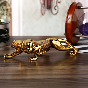 New Jewelry Resin Leopard Car Ornaments Car Interior Decoration Ornaments Creative Gifts High-end Car Accessories Car Decoration