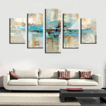 Load image into Gallery viewer, 5pcs Canvas Prints Wall Art - Turquoise Modern Abstract Canvas Wall Art Prints On Canvas For Living Room Home Decor No Frame - SallyHomey Life's Beautiful
