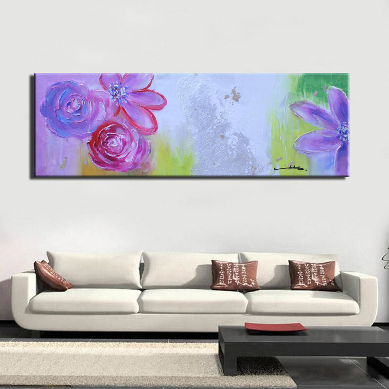 Colorful Flowers Large Poster Print On Canvas for Living Room Home Decor - SallyHomey Life's Beautiful