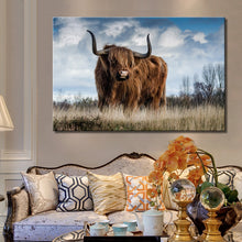 Load image into Gallery viewer, Modern Animals Posters and Prints Wall Art Canvas Painting Aritistic Yak and Cock Picture Wall Decor for Living Room Home Decor - SallyHomey Life's Beautiful