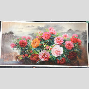 100% Hand Painted Realistic Peony Art Oil Painting On Canvas Wall Art Frameless Picture Decoration For Live Room Home Decor Gift