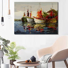Load image into Gallery viewer, Modern Abstract Seascape Posters and Prints Wall Art Canvas Painting Sea Boat Decorative Pictures for Living Room Home Decor - SallyHomey Life's Beautiful