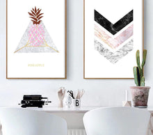 Load image into Gallery viewer, Marble Arrow Pineapple Wall Art Canvas Nordic Poster  Prints Abstract Painting Wall Picture for Living Room Home Decoration - SallyHomey Life's Beautiful