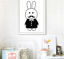 Load image into Gallery viewer, Cartoon Pirate Hero Rabbit Minimalist Canvas Poster Nordic Art Painting Wall Picture Children Room Decoration - SallyHomey Life's Beautiful