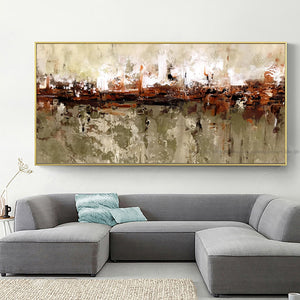 Oil painting on canvas handmade modern abstract painting cuadros decoracion salon decorative pictures for living room wall large - SallyHomey Life's Beautiful
