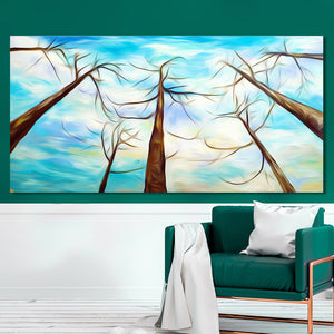 Abstract Trees Decorative Paintings for Living Room Home Decor - SallyHomey Life's Beautiful