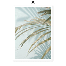 Load image into Gallery viewer, White Flower Palm Leaf Quotes Landscape Wall Art Canvas Painting Nordic Posters And Prints Wall Pictures For Living Room Decor - SallyHomey Life's Beautiful