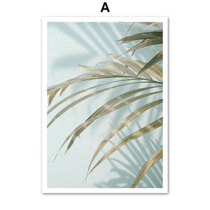 White Flower Palm Leaf Quotes Landscape Wall Art Canvas Painting Nordic Posters And Prints Wall Pictures For Living Room Decor - SallyHomey Life's Beautiful