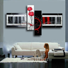 Load image into Gallery viewer, High Quality Home Decoration On Canvas Flower Oil Painting Large Red White Modern Abstract Home Wall Art Picture For Living Room - SallyHomey Life's Beautiful