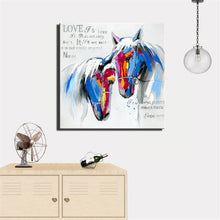 Load image into Gallery viewer, Abstract Canvas Painting Love Of Two Horses Digital Printed Poster Wall Picture for Living Room Wall Decoration Home Decor Gift - SallyHomey Life's Beautiful