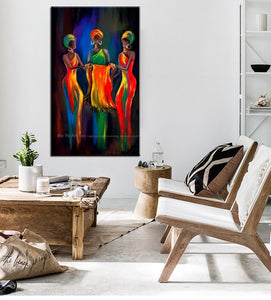 Abstract painting canvas vertical oil painting on canvas african paintings decorative pictures for living room handmade - SallyHomey Life's Beautiful