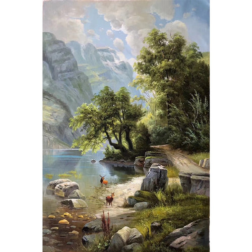 100% Hand Painted Natural Scenery Art Oil Painting On Canvas Wall Art Frameless Picture Decoration For Live Room Home Decor Gift