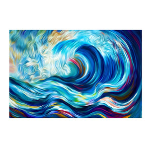 100% Hand Painted Abstract Ocean Waves Art Oil Painting On Canvas Wall Art Frameless Picture Decoration For Live Room Home Decor