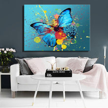Load image into Gallery viewer, Modern Abstarct Oil Painting Posters and Prints Wall Art Paintings On Canvas Watercolor Ink Butterfly Pictures for Living Room - SallyHomey Life's Beautiful