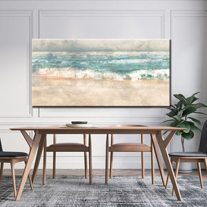 Posters and Prints Wall Art Canvas Painting, Modern Abstract Beach Surf Landscape Wall Art Pictures For Living Room Home Decor - SallyHomey Life's Beautiful