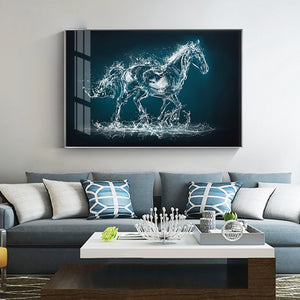 100% Hand Painted Abstract Crystal Horse Art Oil Painting On Canvas Wall Art Wall Pictures Painting For Living Rooms Home Decor