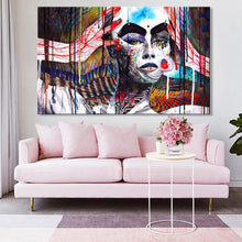 Load image into Gallery viewer, Abstract Art Poster and HD Print on Canvas Wall Art Painting Abstract Colorful Witch Decorative Pictures for Living Room Decor - SallyHomey Life's Beautiful