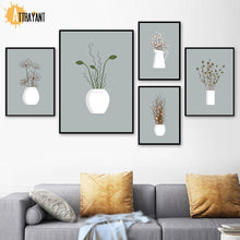 Load image into Gallery viewer, Plant Flower Minimalism Scandinavian Wall Art Print Canvas Painting Nordic Posters And Prints Wall Pictures For Living Room - SallyHomey Life's Beautiful