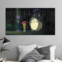 Load image into Gallery viewer, Modern Cartoon Movie Posters and Prints On Canvas Wall Art Canvas Painting Miyazaki Hayao Pictures Deocration For Kids Bedroom - SallyHomey Life's Beautiful