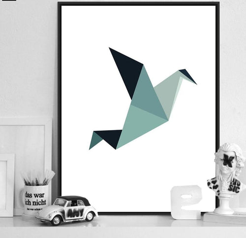 Geometry Bird Arrow Art Canvas Poster Minimalist Painting Abstract Wall Picture Print Modern Home Children Room Decoration - SallyHomey Life's Beautiful