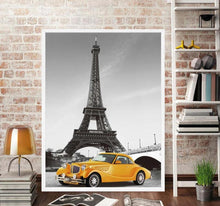 Load image into Gallery viewer, Paris Eiffel Tower Poster Minimalist Art Canvas Painting A4 Black White Cityscape Wall Picture Print Modern Home Office  Decor - SallyHomey Life's Beautiful