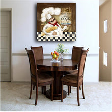 Load image into Gallery viewer, Waterproof Canvas Print Poster Never Trust a Skinny Cook Picture Cook Kitchen Decor Wall Painting For Restaurant Home Decoration - SallyHomey Life's Beautiful