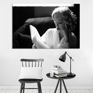 Modern Portrait Posters and Prints Wall Art Canvas Painting Marilyn Monroe Reading Decorative Paintings for Living Room Decor - SallyHomey Life's Beautiful