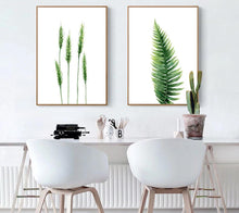 Load image into Gallery viewer, Watercolor Plants Leaves Flower Poster Wall Art Canvas Prints Minimalist Painting Nordic Wall Pictures for Livng Room Home Decor - SallyHomey Life's Beautiful