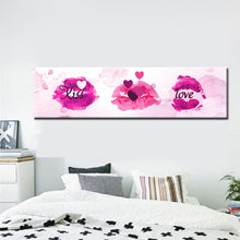 Load image into Gallery viewer, Modern Abstract Oil Painting Kiss Love in Lip Watercolor Canvas Painting Print Poster Wall Picture Art for Bedroom Home Decor - SallyHomey Life's Beautiful