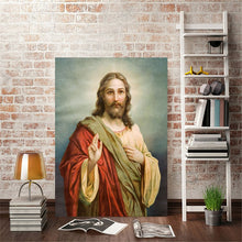 Load image into Gallery viewer, Modern Art Portrait Posters and Prints Wall Art Canvas Painting Jesus Christ Decorative Pictures for Living Room Decor No Frame - SallyHomey Life's Beautiful