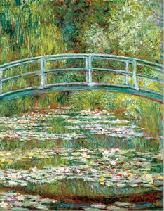 Impressionist Famous Painting Monet's Pond with Water Lilies Poster Print on Canvas Wall Art Painting for Living Room Home Decor - SallyHomey Life's Beautiful