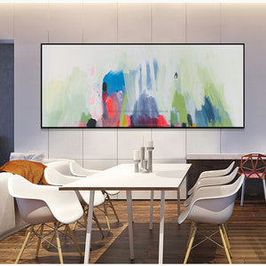 Modern paintings abstract horizontal canvas living room pictures on the wall handmade oil painting wall art watercolor art large - SallyHomey Life's Beautiful