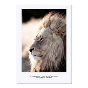 Wall Art Canvas Nordic Poster Print Lion Animal Landscape Painting Decorative Picture for Living Room Scandinavian Home Decor - SallyHomey Life's Beautiful