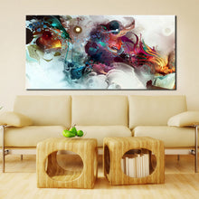 Load image into Gallery viewer, Modern Posters and Prints Wall Art Canvas Painting on Canvas Home Decor Watercolor Abstract Dangon Pictures for Living Room Wall - SallyHomey Life's Beautiful
