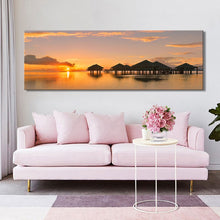 Load image into Gallery viewer, Modern Seascape and Pavilions Posters Wall Art Pictures - SallyHomey Life's Beautiful