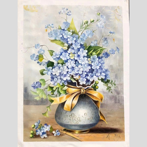 100% Hand Painted Peony Bonsai Vave Art Oil Painting On Canvas Wall Art Wall Adornment Picture Painting For Live Room Home Decor