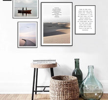 Load image into Gallery viewer, Scandinavian Style Ocean Waves Palm Tree Nordic Poster Landscape Wall Art Canvas Prints Painting Decoration Pictures Home Decor - SallyHomey Life's Beautiful