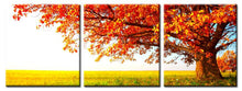 Load image into Gallery viewer, Modern Printed Posters Wall Art Decoration Canvas Painting 3Panels Red Trees in the Prairie Pictures for Living Room Wall - SallyHomey Life's Beautiful