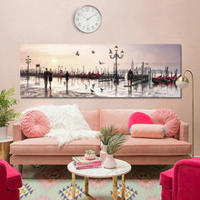 Load image into Gallery viewer, Abstract Landscape Posters and Prints Wall Art Canvas Painting Lovers and City View Oil Painting Pictures for Living Room Decor - SallyHomey Life's Beautiful