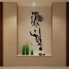 Load image into Gallery viewer, New arrival Horses Living room Acrylic 3d Wall Sticker Restaurant Background DIY art wall decor Creative mirror wall sticker - SallyHomey Life's Beautiful