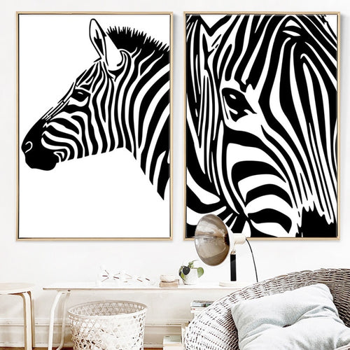 100% Hand Painted Morden Zebras Art Oil Painting On Canvas Wall Art Wall Adornment Pictures Painting For Living Rooms Home Decor