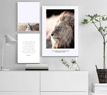 Load image into Gallery viewer, Wall Art Canvas Nordic Poster Print Lion Animal Landscape Painting Decorative Picture for Living Room Scandinavian Home Decor - SallyHomey Life's Beautiful