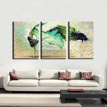 Load image into Gallery viewer, Modern 3Pcs Paintings Abstract Watercolor Dancing Girl Wall Art Printed Poster for Living Room Wall Decoration Canvas Painting - SallyHomey Life's Beautiful