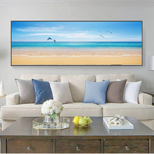 Load image into Gallery viewer, Modern Seascape Posters and Prints Wall Art Canvas Painting Beach Seagull, Dolphins Pictures for Living Room Home Decor No Frame - SallyHomey Life's Beautiful