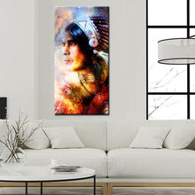 Load image into Gallery viewer, Modern Noble Feather Art Posters Prints On Canvas Indian Portrait Pictures for Living Room Wall - SallyHomey Life's Beautiful