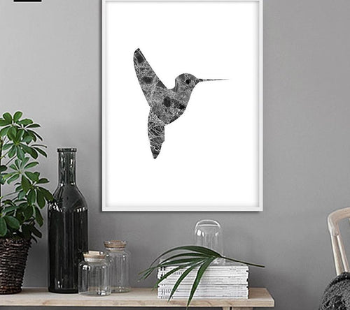 Woodpecker Bird Marble Silhouette Art Canvas Posters and Prints Nordic Abstract Animal Painting Wall Picture for Living Rooom - SallyHomey Life's Beautiful