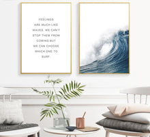 Load image into Gallery viewer, Ocean Sea Waves Canvas Nordic Posters Prints Landscape Scandinavian Style Wall Art Painting Decoration Pictures for Living Room - SallyHomey Life's Beautiful