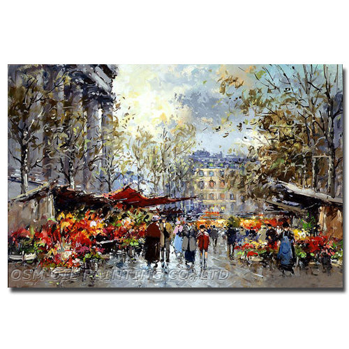 Experienced Artist Hand-painted Impression Knife Painting on Canvas Handmade- Oil Painting - SallyHomey Life's Beautiful