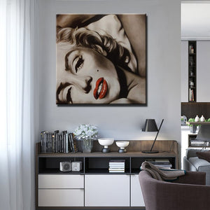 Modern Film Star Posters and Prints Wall Art Canvas Painting Goddes Marilyn Monroe Pictures Home Decoration for Living Room - SallyHomey Life's Beautiful
