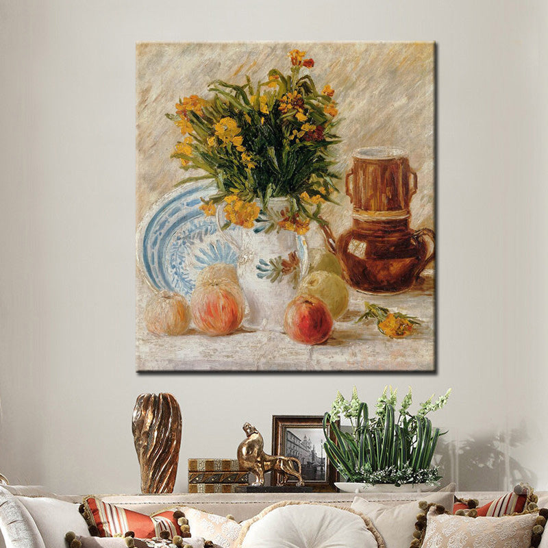Famous Abstract Oil Painting Van Gogh Coffee and Fruits Canvas Painting Wall Painting for Living Room Home Decoration Frameless - SallyHomey Life's Beautiful